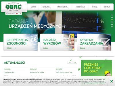 Obac.com.pl certyfikacja produktów