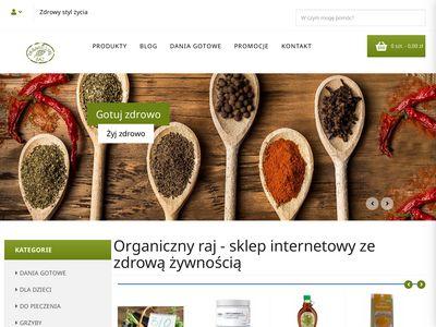 Organicznyraj.pl produkty bezglutenowe