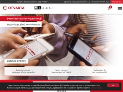 Otvarta.pl najtańszy abonament komórkowy
