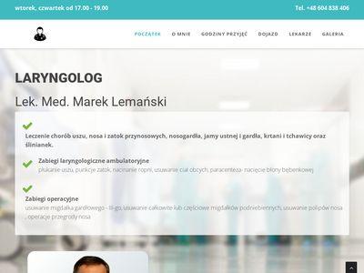 Laryngolog Swarzędz - zabiegi laryngologiczne