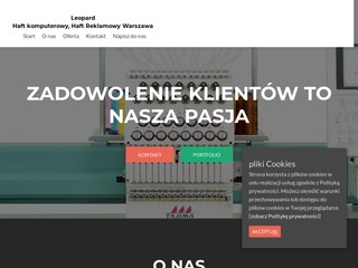 Leopard haft maszynowy Warszawa