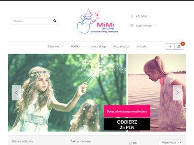 Sklep internetowy z zabawkami - Mimi Poznań