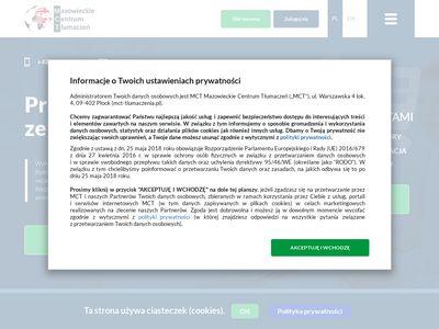 MCT Płock tłumacz przysięgły