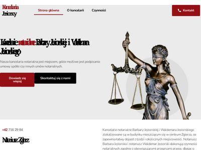 Waldemar Jeziorski akty notarialne Łódź