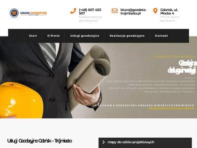 Geodeta-trojmiasto.pl mapy projektowe