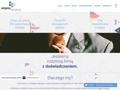 Enigma tłumaczenie stron internetowych