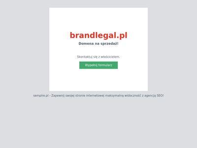 Brandlegal.pl zastrzeżenie nazwy firmy i logo