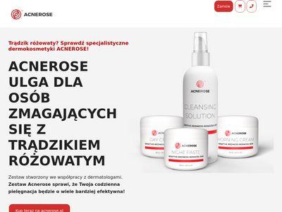 Acnerose.pl na zaczerwienienie na twarzy