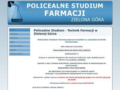 Studiumfarmacji.zgora.pl technik farmaceuta