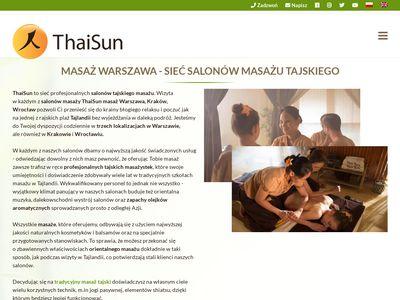 Thaisun - Masaż tajski Warszawa