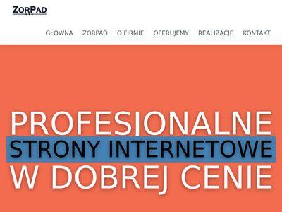 Zorpad.pl - tworzenie stron www jarosław