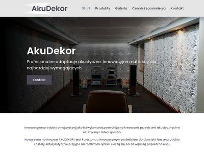 Akudekor.pl - materiały dźwiękochłonne