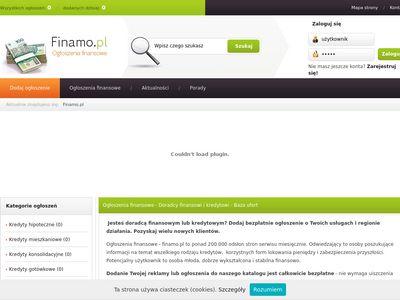 Ogłoszenia kredytów i pożyczek - Finamo.pl