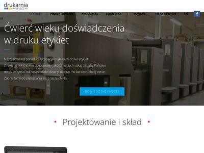Drukujemyetykiety.com na zamówienie Maciaszczyk