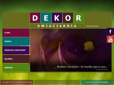 Kwiaciarnia Dekor - wiązanki ślubne