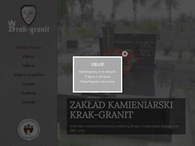 Krak-Granit grobowce z granitu Kraków