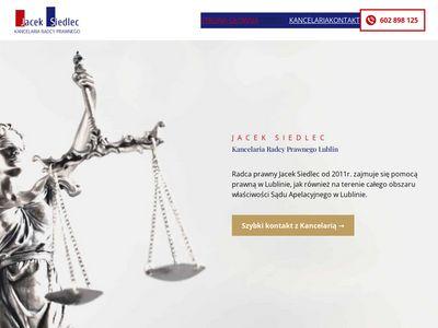 Kancelaria-siedlec.pl porady prawne Lublin