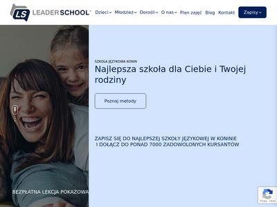 Konin.leaderschool.pl szkoła językowa angielski
