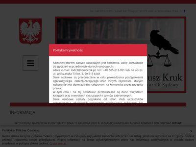 Janusz Kruk Łódź komornik sądowy