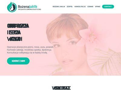 Dr Bożena Jaklik - chirurgia plastyczna Katowice