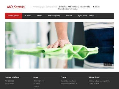Mdserwisweb.pl firma sprzątająca Kraków