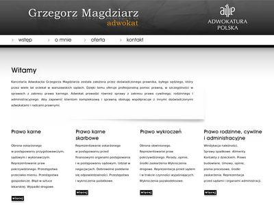 Adw. Grzegorz Magdziarz - sprawy karne