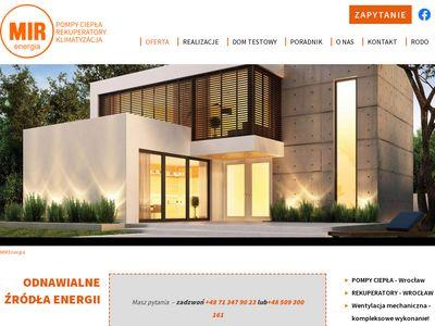 MIR Energia pompy ciepła