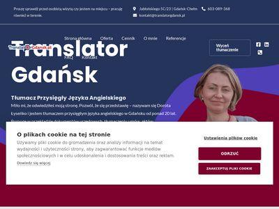 Translator.pl - tłumacz przysięgły Gdańsk