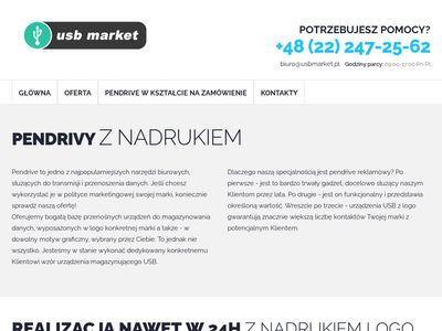 Usbmarket.pl fadzety reklamowe z nadrukiem logo