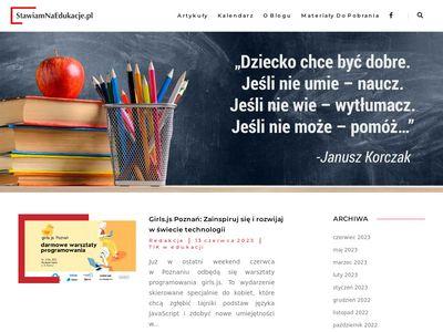 Stawiamnaedukacje.pl wiedza dla nauczycieli