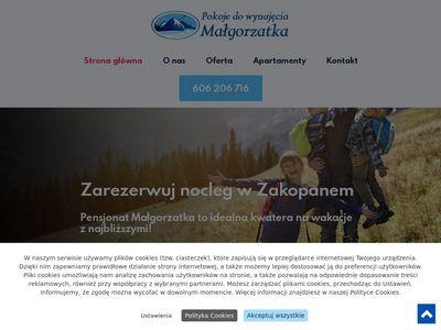 Pokojemalgorzatka.pl tanie noclegi Zakopane