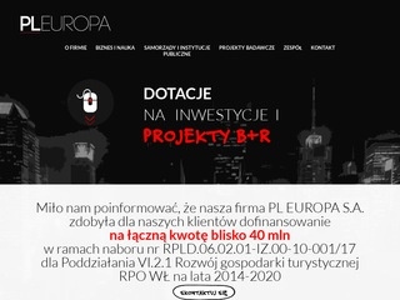 Pleuropa.pl - dotacja unijna Łódź