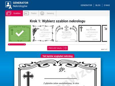 Nekrologwzor.pl generator nekrologów online