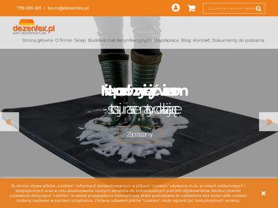 Dezenfex.pl profesjonalne maty dezynfekujące