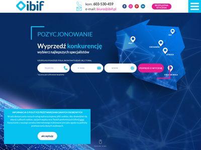 Pozycjonowanieibif.pl lokalne