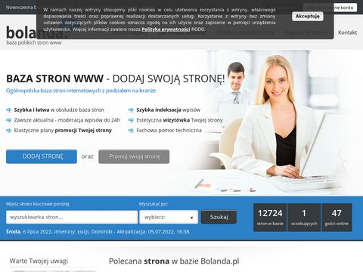 Bolanda.pl baza stron www