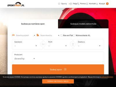 Oponyprofi.pl internetowy sklep z oponami